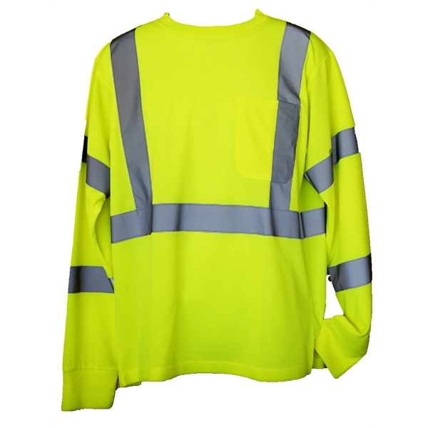 Item #SFT13 Yellow 4XL/5XL Long Sleeve Hi-Viz Safety T-Shirt