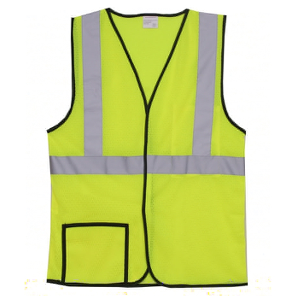 Item #SV130 Single Stripe S/M Yellow Mesh Safety Vest