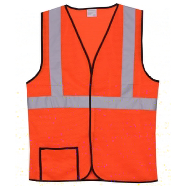 Item #SV144 Single Stripe S/M Orange Mesh Safety Vest