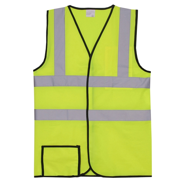 Item #SV164 Dual Stripe 2XL/3XL Yellow Solid Safety Vest