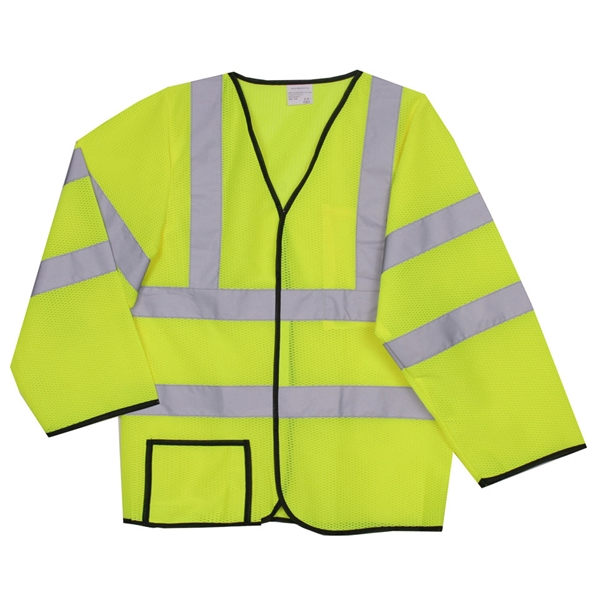 Item #SV192 S/M Yellow Mesh Long Sleeve Safety Vest