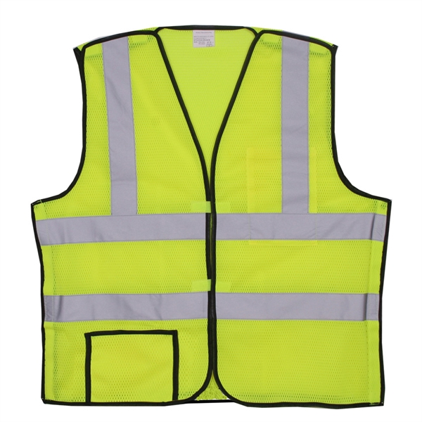 Item #SV400 Yellow Mesh Break-Away Safety Vest