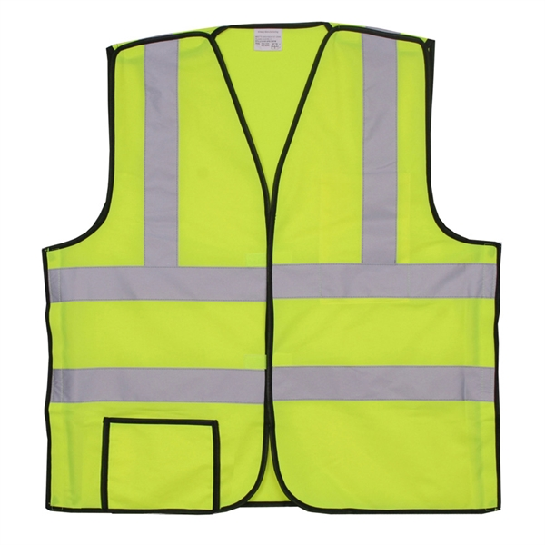 Item #SV401 Yellow Solid Break-Away Safety Vest