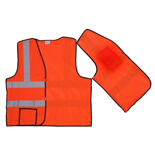 Item #SV403 Orange Solid Break-Away Safety Vest