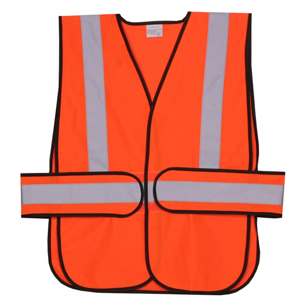 Item #SV407 Orange Solid Side Strap Safety Vest