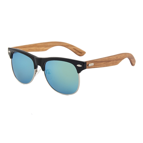 b0ccd6325 Zebra Wood Sunglasses - Gold Mirrored Lenses - Item #SGL-SUN-1029Y3 ...