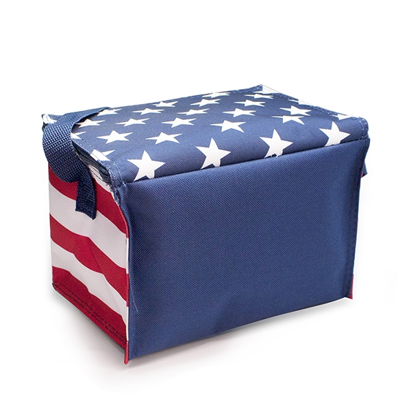 Item #CL174 Promo Americana 6-Pack Cooler
