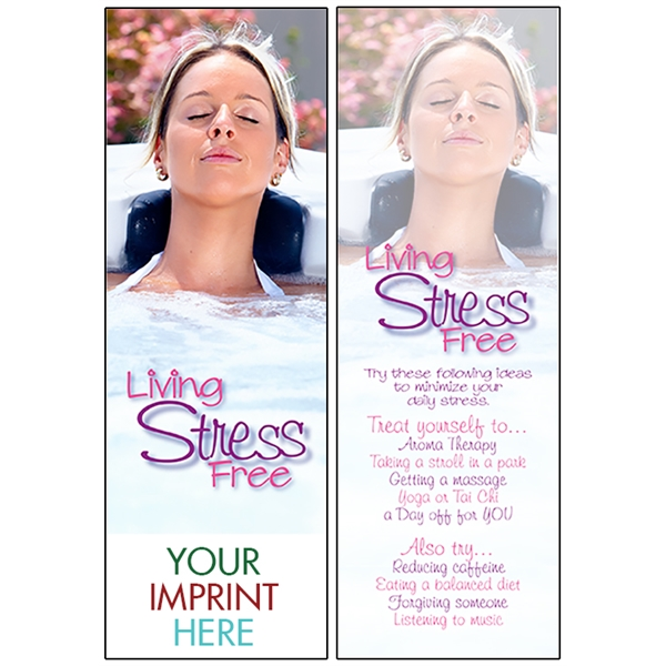 Item #BM-1975 Living Stress Free Bookmark