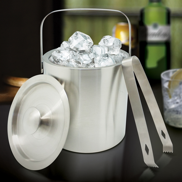 Item #IB713 OVERSEAS STAINLESS STEEL ICE BUCKET
