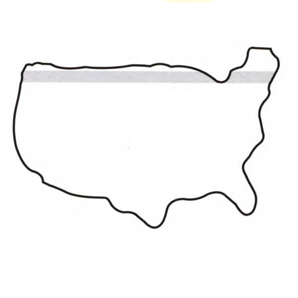 PostIt Color Imprint Small United States Map Shape Pad - Small us map