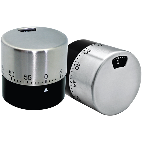 Item #TM50 Dual View Stainless Steel Winding Cylindrical Timer