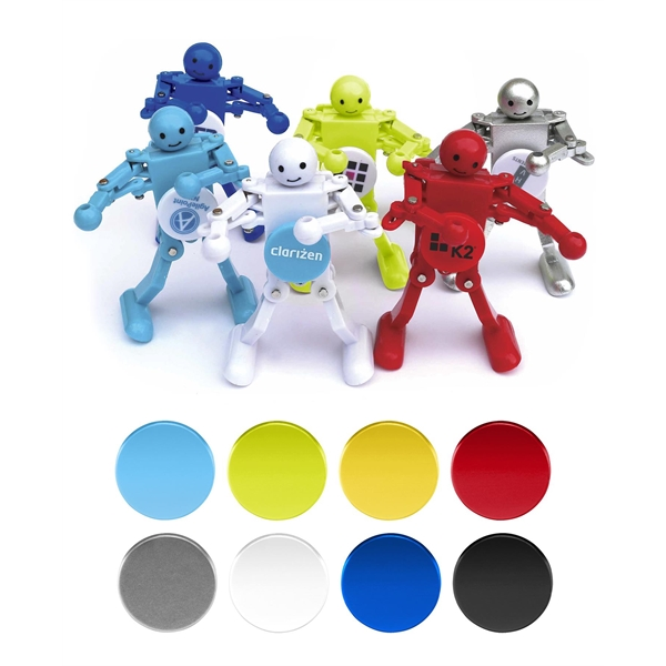 Wind Up Bots Dancing Mini Robots With Spinning Logo Item 4420