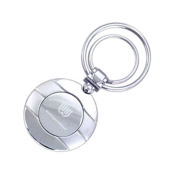Mirror etch key holder round item kh615 e for Mirror key holder