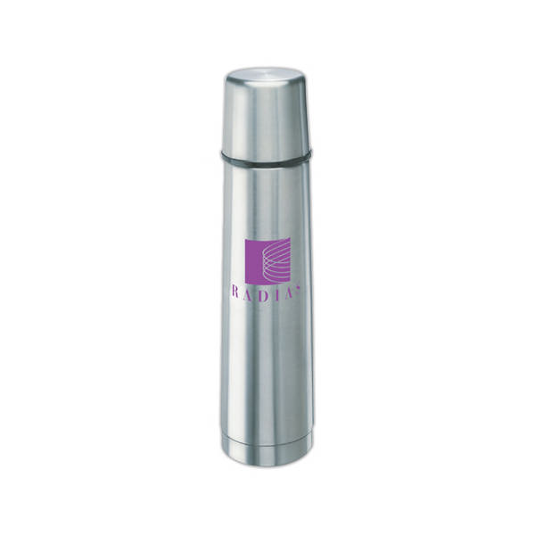 Item #SM12SS Stainless Steel - Desktop travel thermos with vacuum insulated double wall stainless steel.