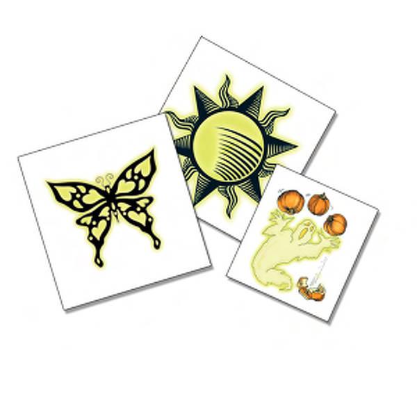 Glow in the dark custom design temporary tattoo for Custom temporary tattoos no minimum
