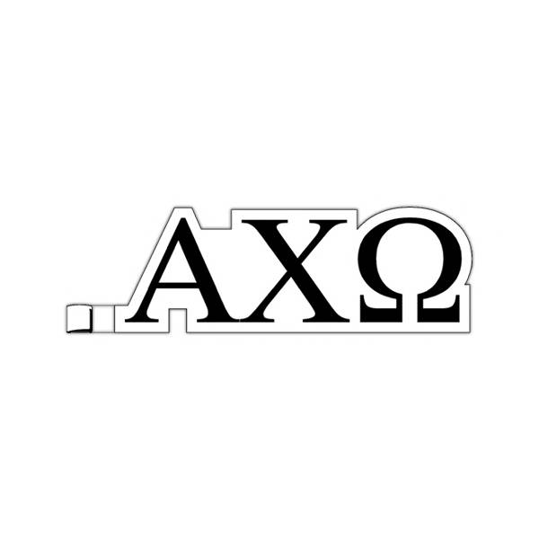 Greek Letters Alpha Chi Omega Plastic Greek letter shaped key