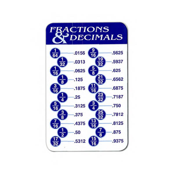 fraction to decimal chart oker whyanything co