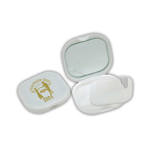Item #COMMIR Compact mirror with comb