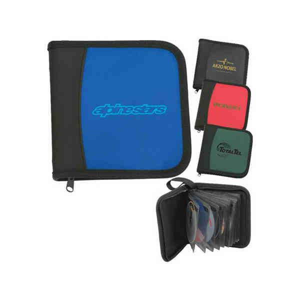 Item #CDH1 Eclipse (TM) - Zippered CD case with carrying handle holds 24 CD's in anti-static sleeves.