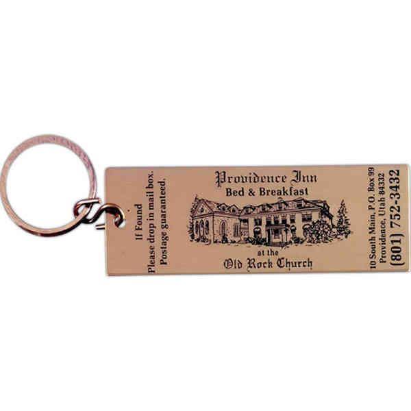 Item #ET-15425-B Brass key tag with ticket replica design.
