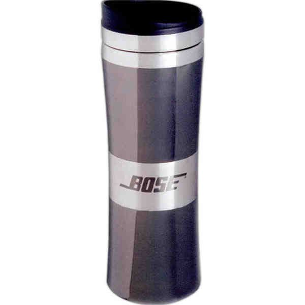 Item #SL38BL Signal - Black chrome tapered tumbler,13 oz.