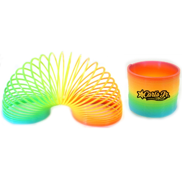 Item #PUZZLE 659 Rainbow Colored Fun Coil Spring - E659