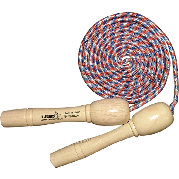 Item #EXERCISE 977 Jump Rope With Wooden Handles - E 977