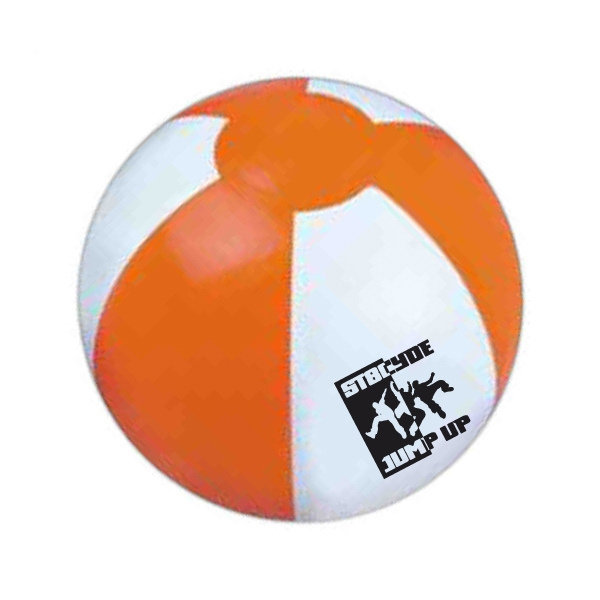 "Item #BEACH 618OW Official Size Inflatable Beach Ball, Large 16"" - E618OW"