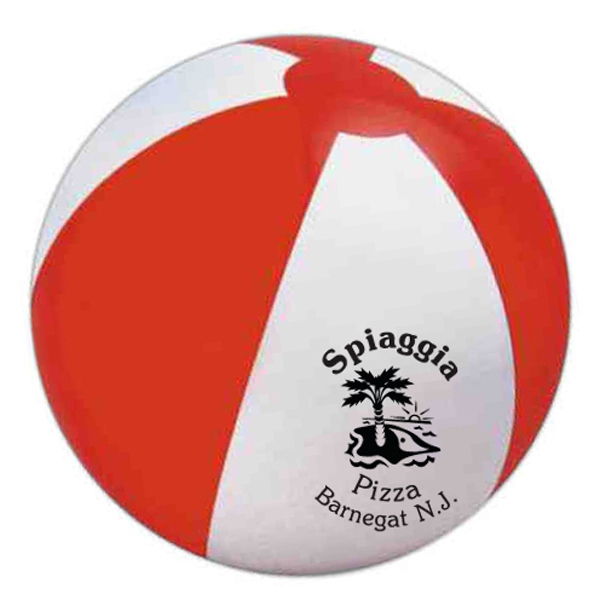 "Item #BALL E619 RW Official Size Beach Ball, Large 16"" - E619RW"