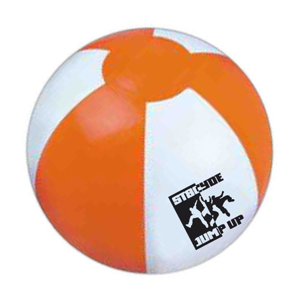"Item #BALL 618OW Official Size Inflatable Beach Ball, Large 16""- E618OW"