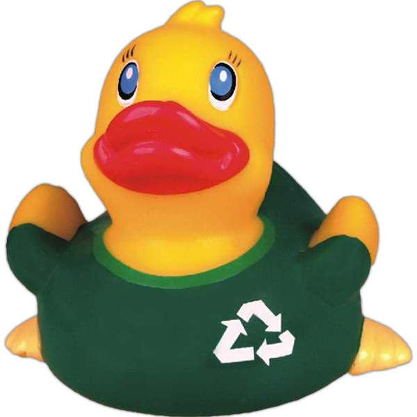 Item #AD-7040 Go green rubber duck