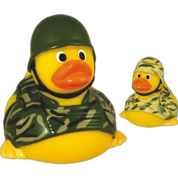 Item #AD-7002 Rubber soldier duck