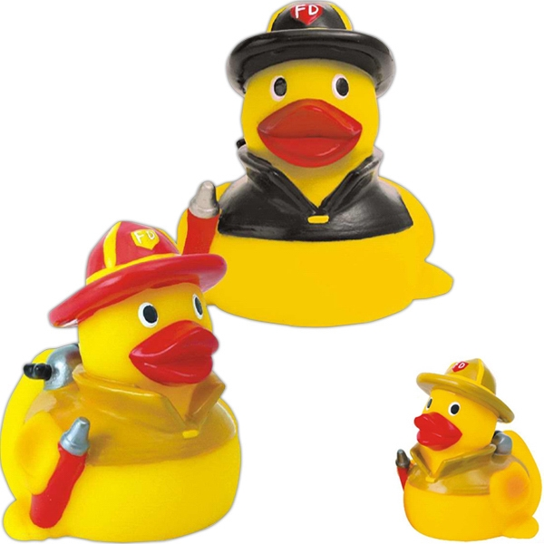 Item #AD-1078 Rubber fire fighter duck