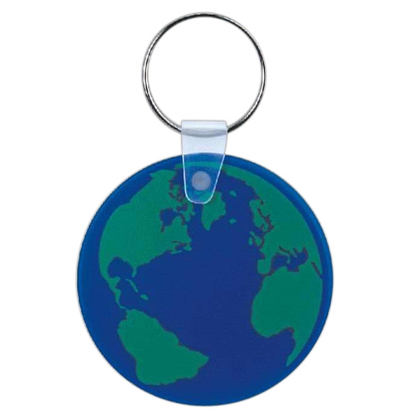 Item #CD-1003 Blue globe key chain