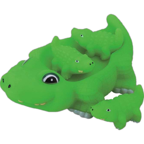 Item #AD-1086 Rubber alligator family toy