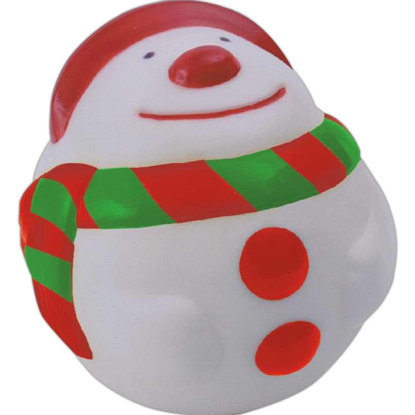 Item #AD-1054 Rubber snowman squeaking toy