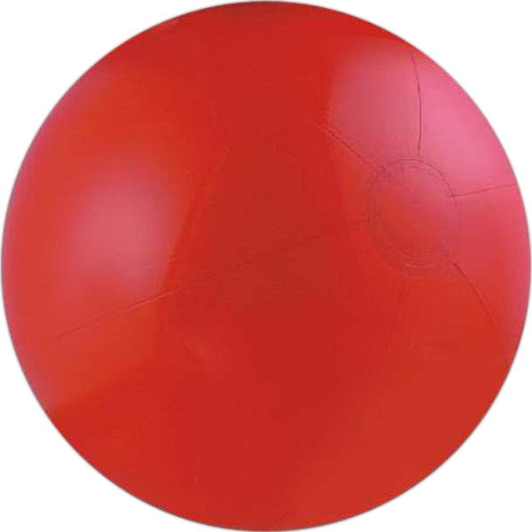 Solid red beach ball