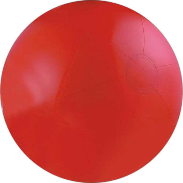"Item #AB-2220 24""Inflatable Solid Red Beach Ball"
