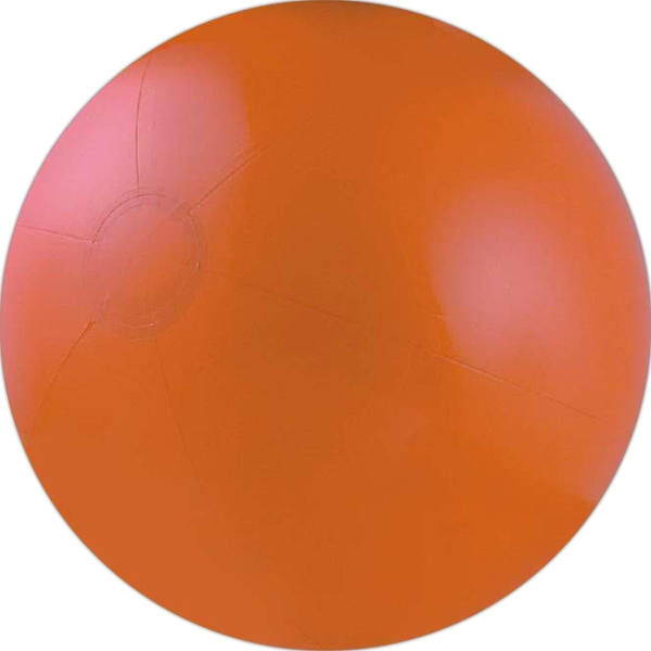 Solid orange beach ball