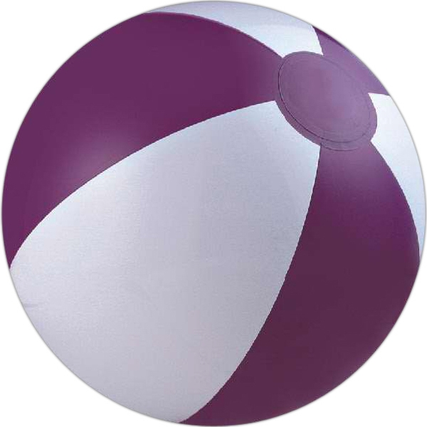 Item #AB-1003PW Purple and white beach ball