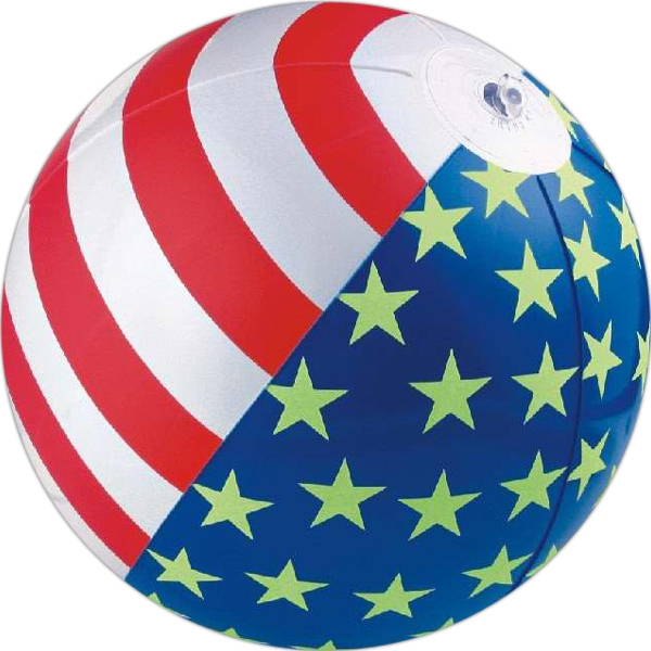 "Item #AB-1073G 16"" Inflatable Glow in the dark beach ball"