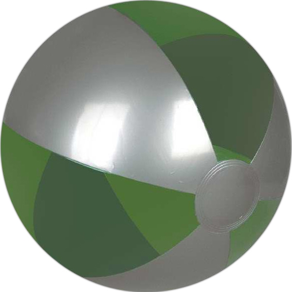 Translucent color and silver beach ball