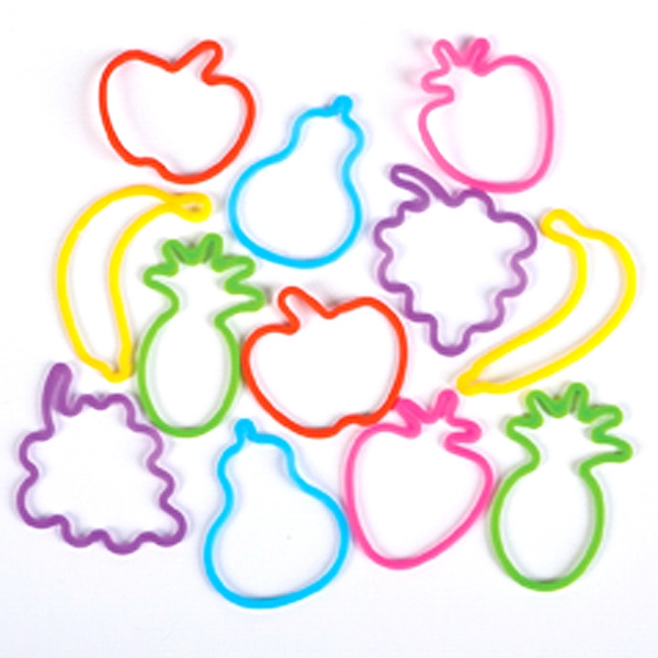 Item #Band 551 Fruit Silly Bands - Assorted Fruit Collection