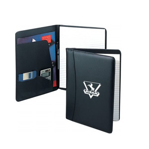 Item #B-8105 Leather Inside Pockets Note Pad