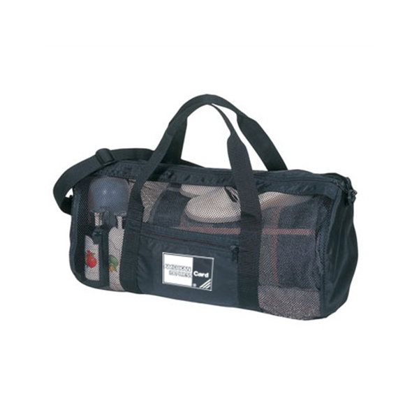 Item #B-8905 Mesh Sports Workout Duffel Bag