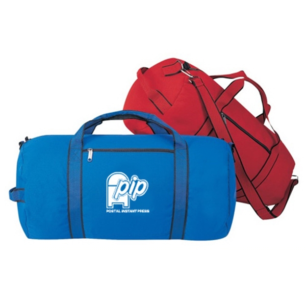 Item #B-8906 Polyester Roll Duffel Gym Bag