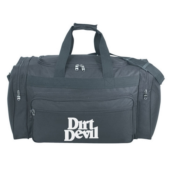 Item #B-8912 Poly Deluxe Travel Duffel Bag