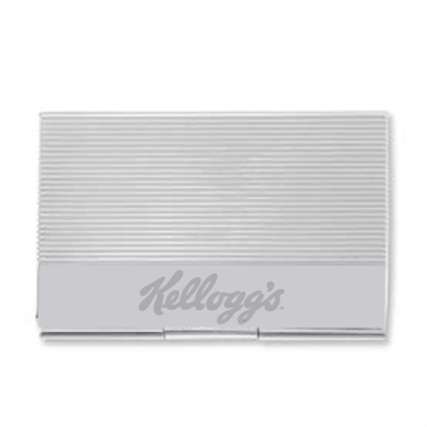 Item #HA-5005 Metal Ridged Business Card Case