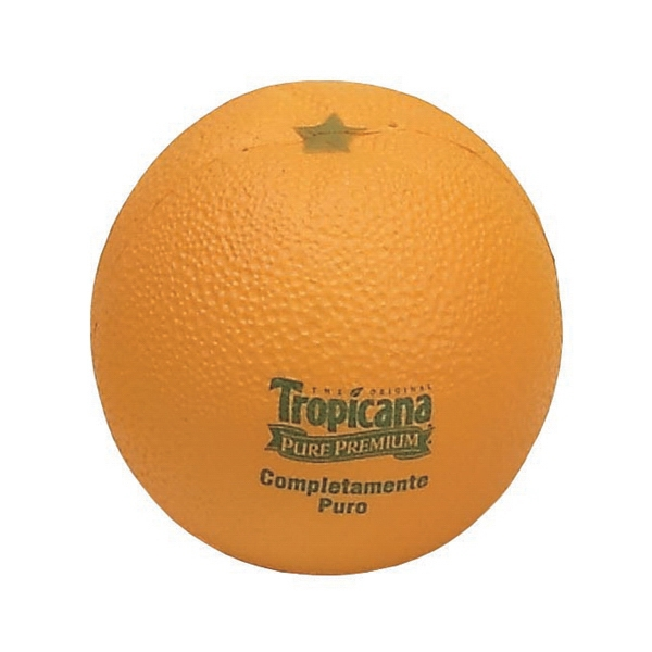 Item #FO-03 Orange Shaped Stress Reliever