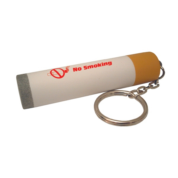 Item #KCG-22 Cigarette Shaped Stress Reliever Key Tag